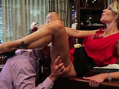 Its Christmas time and Jessica Drake and her cock craving beaver are hunting for young cocks. She finds one and has wild sex in office with him. She really loves the D