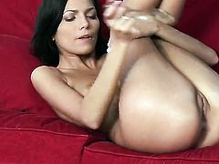 Pure Angel is on the way to orgasm in solo action