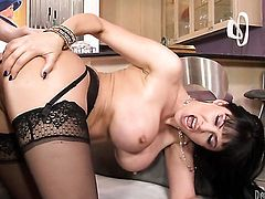 Eva Karera and horny dude have a lot of fun in this blowjob action