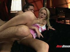 Blue eyed blond babe Holly Wellin gets her wet anus pounded in mish pose