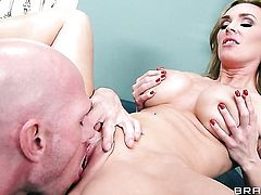 Tanya Tate with gigantic melons is desperate for oral sex and Johnny Sins knows it