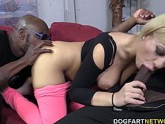 Bibi Noel Gets Her Holes Filled With Black Cock