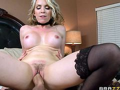 Danny D is a very lucky son. His dad cant satisfy his blonde fucker and its all up to Danny and Whitezilla in his pants to satisfy this horny milf and give her a milf creampie