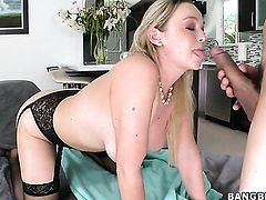 Abbey Brooks believes that fresh cum gives her sexual energy to spend