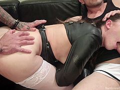 Casey finds herself at the mercy of an angry gang of men, whose only wish is to use her in the dirtiest of manners, getting excited at the sight of her small boobs and tight pussy. Click to watch this helpless bitch banged hard and mouth fucked.