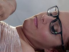 Daisy's newest conquest is a slutty babe with blonde hair and nerdy glasses. Click to watch Roxanne, tied up strongly and enjoying the treatment, her redhead mistress applies her shamelessly. While electrodes are attached to her sensual body parts, the bitch's horny pussy is fingered deep. Have fun!