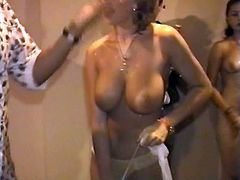 Grateful Wet t-shirt woman strips naked - amazing
