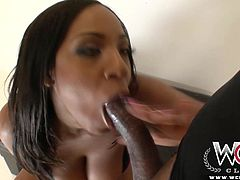 Layla Monroe takes a big black cock up her ass after showing off her big juicy booty.