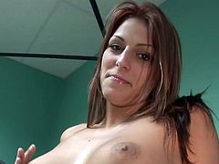Spicy chick next door bares off her underwear and fingers her pink pussy