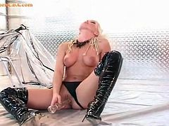 Sylvia Saint is sexy as hell in latex boots