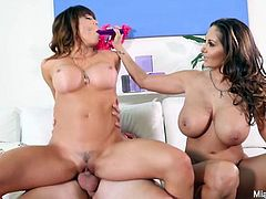 Mia Lelani shares a cock with Ava Addams