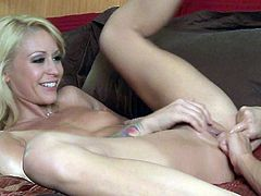 Brunette Alektra Blue and blonde Monique Alexander love lesbian sex so much. They play with each others incredibly tight pink holes for your viewing pleasure. Watch lovely ladies do it!