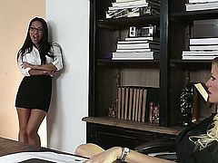 Asa Akira porno is something that is watched quite a lot. Here she is getting her experienced dripping wet beaver smashed by a raging, thick, pulsating white dong in the office