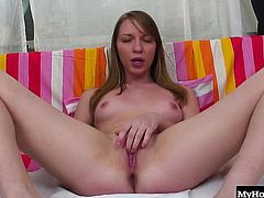 Marry Dream is a sexy redhead 18 year old girl. She rubs her