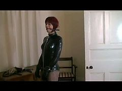 Tranny Latex Basement Bagging 1