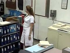 Erotic Nurse Shanna McCullough thingers While Working the Night Shift