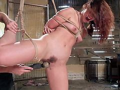 Training slutty babes, often involves treating them like slaves... See Jodi naked and tied up. She's eager to blow her executor's cock, and just waits to get her hot pussy stuffed by a hard dick. Enjoy!
