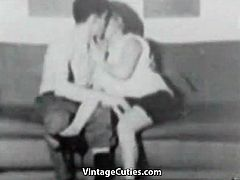 Plump MILF Fucked by Young Man (1950s Vintage)