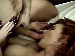 Winter Layne fucked by Ron Jeremy - Deep red long nails