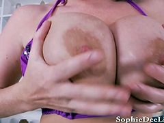 Sophie Dee Cock Teases For You