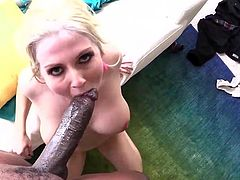 Top blonde Christie Stevens gets sticky POV cumshot from BBC