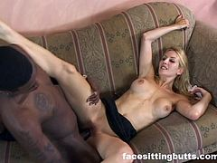 British milf tastes some American black monster cock
