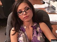 Yurizan Beltran only just started at the office but the overall hornyness of the place is starting to rub off on her. She hadnt fucked in the office yet but as soon as that delivery man came in, she knew she wanted what he was bringing. Yurizan couldnt wait to feel his throbbing cock rubbing up and down between her tits or in her dripping wet vagina.