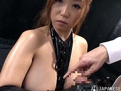 Slutty Naho found herself in big trouble. Her fearful regard could inspire pitty, but don't let yourself impressed that easily. This busty Japanese milf is eager to play dirty and obey her dominanting master... Click to see her handcuffed!