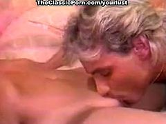 Rapacious blond haired buxom nympho gonna get both holes drilled hard