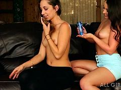 When these hot bitches get to the cozy chalet, where the fireplace is lit, they feel hot and begin to undress. Click to watch this lesbian couple savoring their love with lusty embraces and a kinky oilly massage. See them kissing passionately.