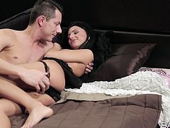 Caprise is a tender lover, who hasn't forgot about her partner's birthday. For the special occasion, the sexy brunette has chosen to wear black hot lingerie. See her showing her lovely tits and appetizing cunt...