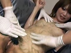 Awesome Rika Sakurai looks Sensuous inside her silver shiny bra and panties. She enjoys cosplay and A chaps all over her do as well. They love how she looks and when she expand her legs they quickly jump inside to tease her fuzz box involving vibrators till filling her muff pie round big snakes and leaving her sticky close by Horny jizz.