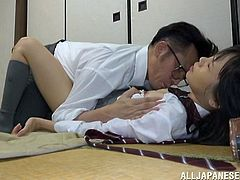 There is nothing better than some amateur Japanese sex. The chick is a bit hesitant to jump into it, but the guy makes her feel better, by pulling down her panties and kissing her repeatedly. He then fingers the girl's ass and readies it to enter. He takes her from behind, as she lies on her stomach.