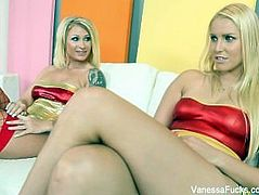 Wonder women Vanessa Cage & Daisy Monroe dress up and fuck