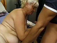 Ugly super fat wrinkled old bitch gets her meaty mature cunt fucked mish