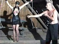 Cutie gets painful punishment in the dark dungeon