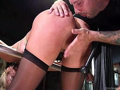 blonde submissive lady gets her ass fucked