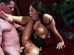 Hot asian porn diva Asa Akira with sexy legs and perfect firm boobs gets her tight neatly shaved pussy stuffed before she takes it in her asshole. Asa Akira loves butt banging so much!