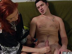 redhead can tell its time for some dildo fucking