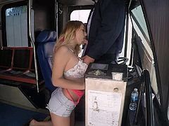 Juicy slut Natalia Starr fucking with bus driver