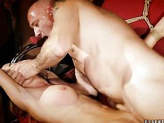 Brunette Alice Romain gives it to horny man that loves fucking her butthole