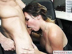Ryan Mclane touches the hottest parts of slutty Danica Dillons body after he drills her butt