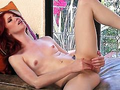Elle Alexandra has some time to stroke her bush