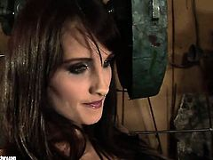 Brunette Aleksandra Black with juicy knockers is in heaven doing it with hot lesbian Mandy Bright