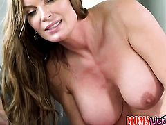Blonde Keely Jones gets her lesbian wet hole licked by Diamond Foxx the way she loves it