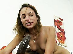 Wesley Pipes buries his rock hard rod in nasty Amber Raynes booty before she gives blowjob