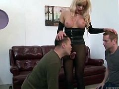 shemale goddess has her cock sucked @ all time biggest transsexual cocks #09