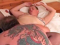 I am pierced granny slave with pussy piercings fucked hard