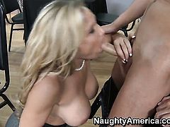 Tyler Faith with giant hooters cant stop fucking in crazy porn action with hard dicked bang buddy Kris Slater
