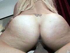 Coco Velvett blows the jizz out of cock
